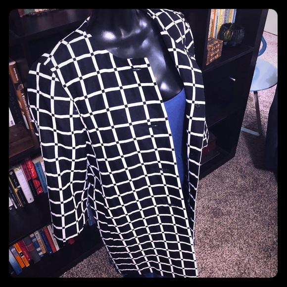 Ann Taylor Jackets & Blazers - Ann Taylor Jewel Neck Black & White Jacket